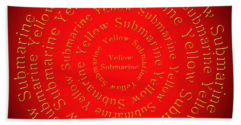 Yellow Submarine Bath Towel featuring the digital art Yellow Submarine 1 by Andee Design