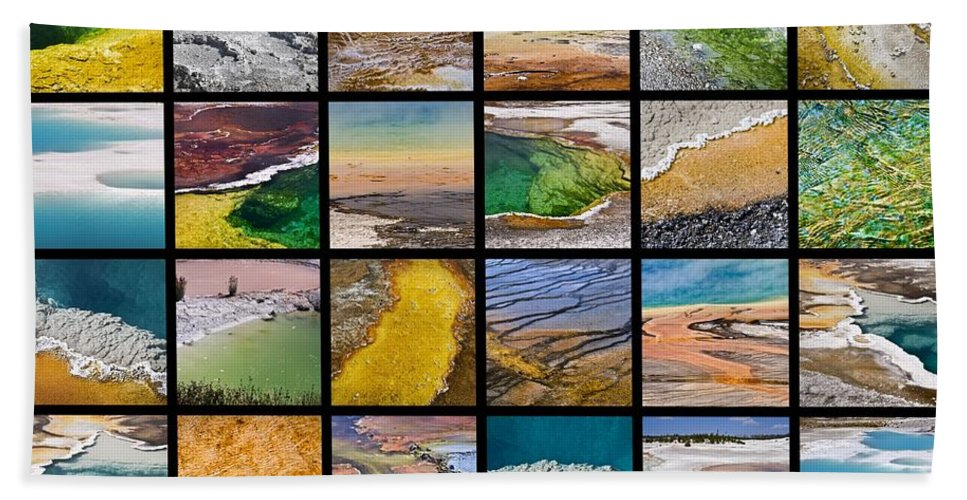 Yellowstone Hand Towel featuring the photograph Yellowstone Colors by Delphimages Photo Creations