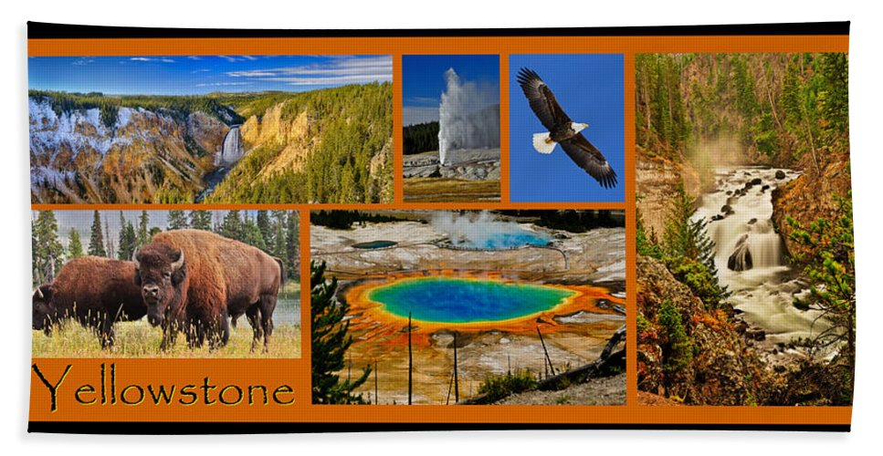 Yellowstone Hand Towel featuring the photograph Yellowstone National Park by Greg Norrell