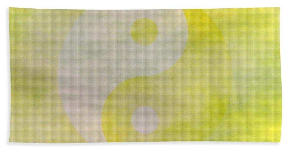 Yin Bath Sheet featuring the digital art Yinyang 6 by Ron Hedges