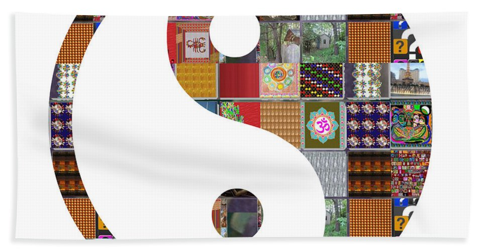 Yinyang Hand Towel featuring the painting Yinyang Yin Yang Showcasing Navinjoshi Gallery Art Icons Buy Faa Products Or Download For Self Print by Navin Joshi