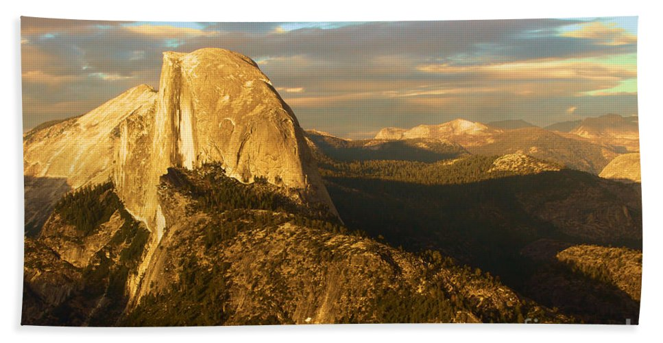 Half Dome Hand Towel featuring the photograph Yosemite Half Dome by Adam Jewell