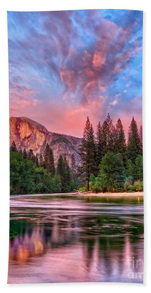 Half Dome Bath Sheet featuring the photograph Yosemite Magic by Beth Sargent