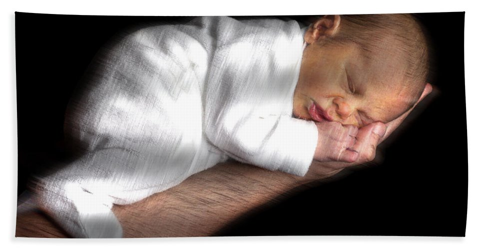Baby Hand Towel featuring the photograph You're In Good Hands - Featured In 'comfortable Art' And Notecard Possibilities Groups by Ericamaxine Price
