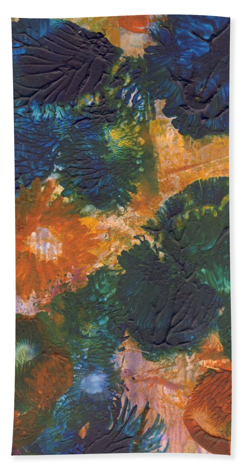 Flower Bath Sheet featuring the painting Yupo Surprise by Phyllis Brady