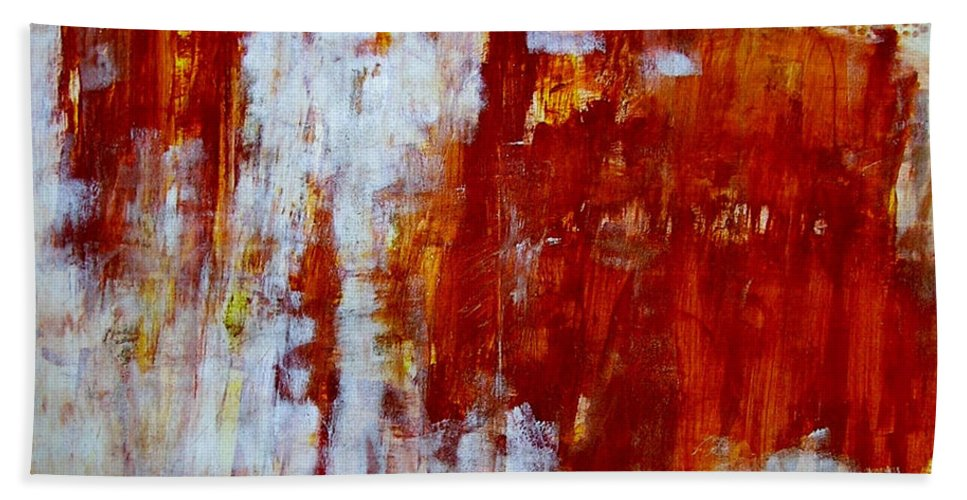 Abstract Painting Bath Sheet featuring the painting Z1 by Kunst mit Herz Art with Heart
