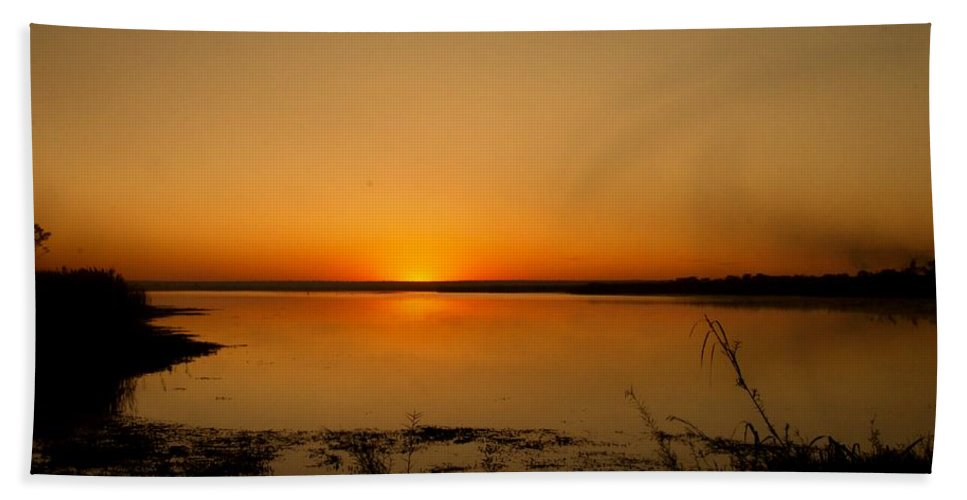 Sun Rise Hand Towel featuring the photograph Zambian Sunrise by Martin Michael Pflaum