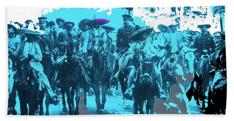 Zapata And Villa At Head Of Convencionista Army Mexico City December 6 1914-2013 Bath Sheet featuring the photograph Zapata And Villa At Head Of Convencionista Army Mexico City December 6 1914-2013 by David Lee Guss