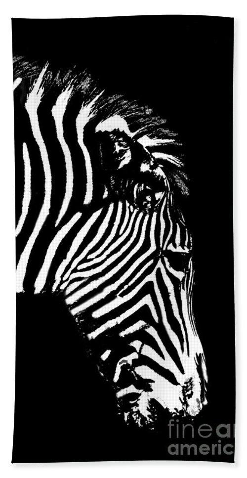 Zebra Bath Sheet featuring the photograph Ze Bra by Sheila Laurens