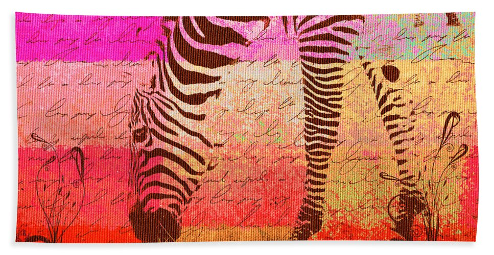 Zebra Hand Towel featuring the digital art Zebra Art - T1cv2blinb by Variance Collections