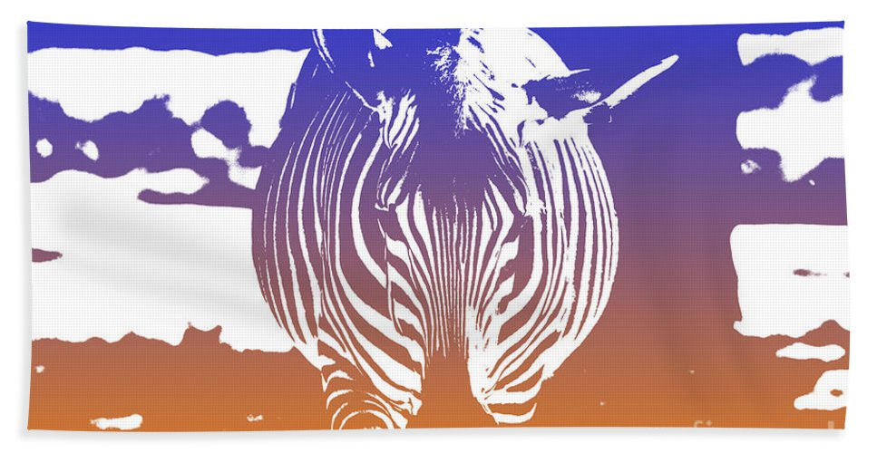 Zebra Hand Towel featuring the photograph Zebra Crossing V6 by Douglas Barnard