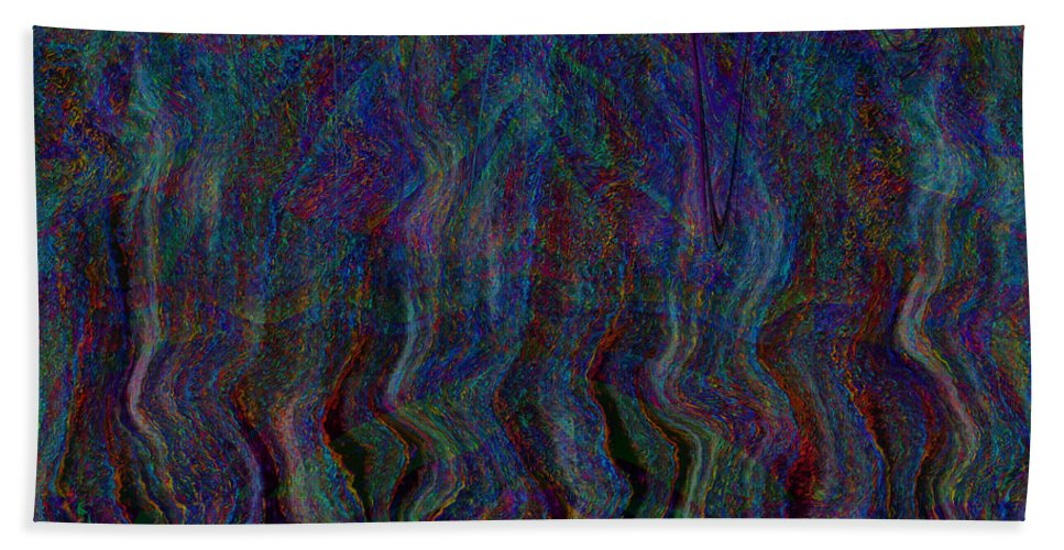 Waterfall Hand Towel featuring the digital art Zebra Falls by Diane Parnell