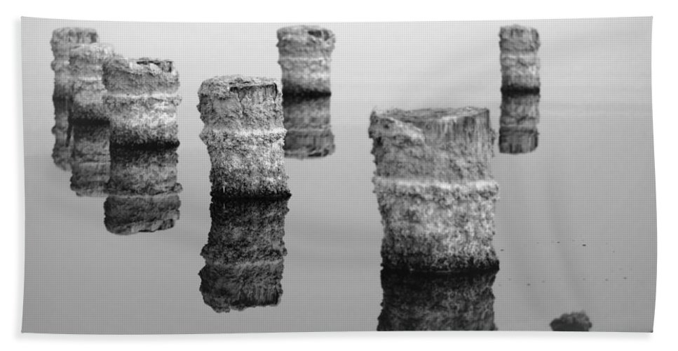 Salton Sea Bath Sheet featuring the photograph Zed Black And White by Scott Campbell