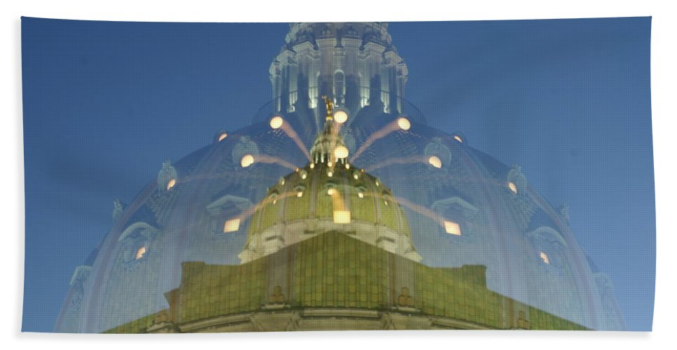 State Hand Towel featuring the photograph Zoomy Dome  # by Rob Luzier