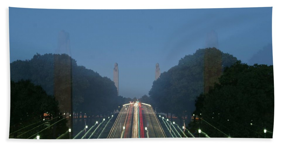 Plaza Hand Towel featuring the photograph Zoomy Pic Of The Plaza State Capital Pa by Rob Luzier