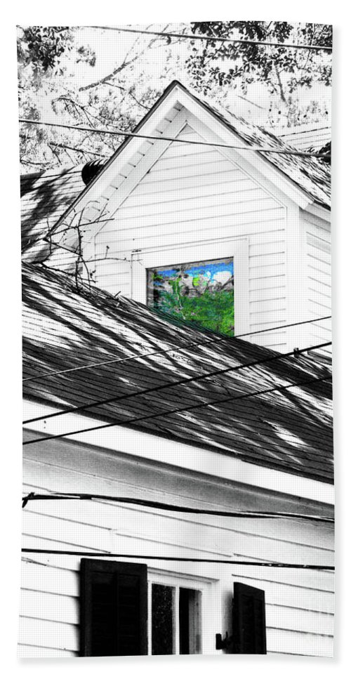 Beauregard Town Bath Sheet featuring the digital art Beauregard Attic Baton Rouge by Lizi Beard-Ward