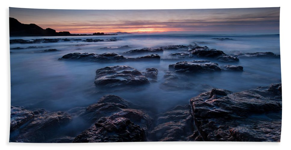 Seascape Bath Sheet featuring the photograph Blue Dusk by Beverly Cash