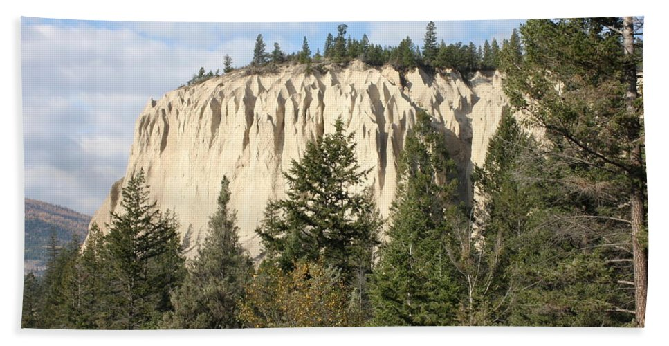Rocky Mountains Bath Sheet featuring the photograph Canadian Rocky Mountain Hoodoos Bc by Terry Fleckney
