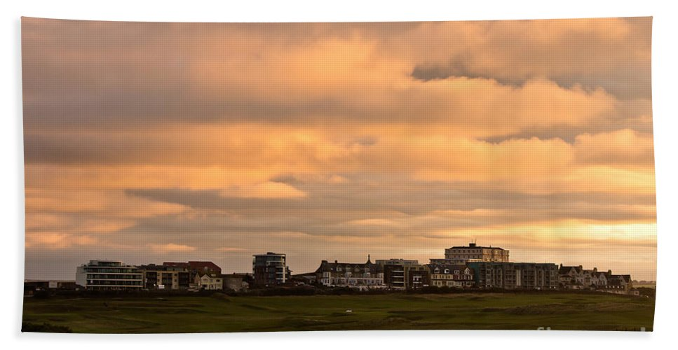 Newquay Cornwall Hand Towel featuring the photograph Newquay Cornwall by Brian Roscorla