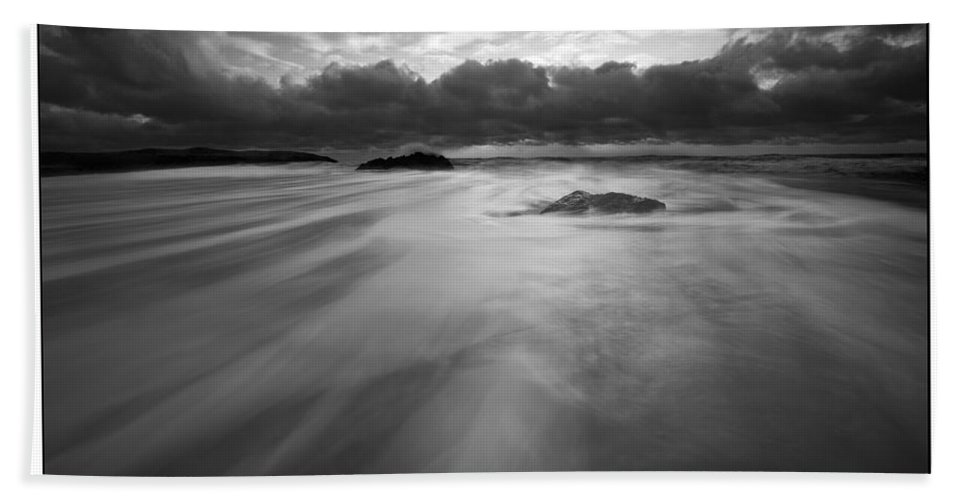 Monochrome Bath Sheet featuring the photograph Rhosneigr by Beverly Cash