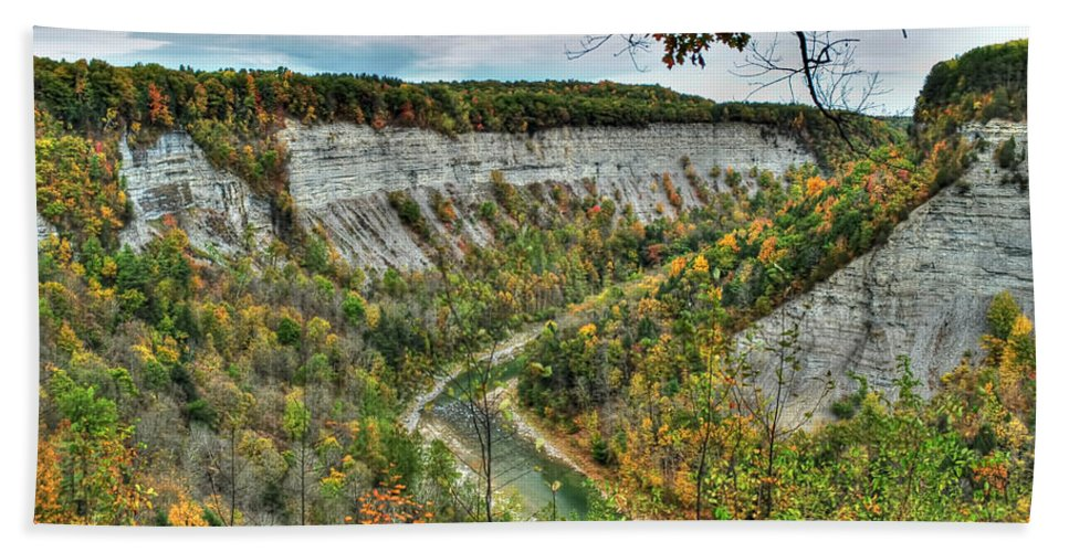 Hand Towel featuring the photograph 0021 Letchworth State Park Series  by Michael Frank Jr