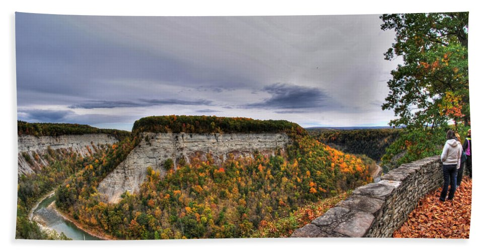 Hand Towel featuring the photograph 0024 Letchworth State Park Series  by Michael Frank Jr
