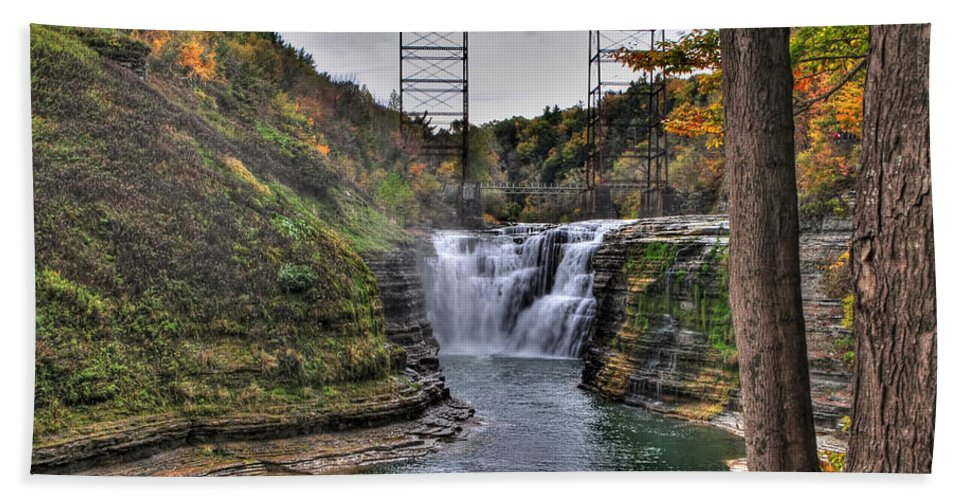Hand Towel featuring the photograph 0025 Letchworth State Park Series by Michael Frank Jr