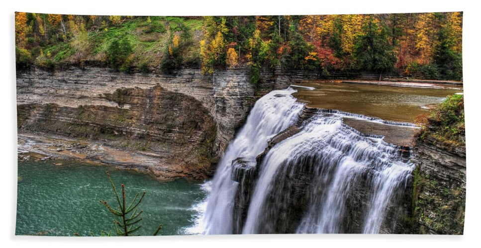 Hand Towel featuring the photograph 0035 Letchworth State Park Series by Michael Frank Jr