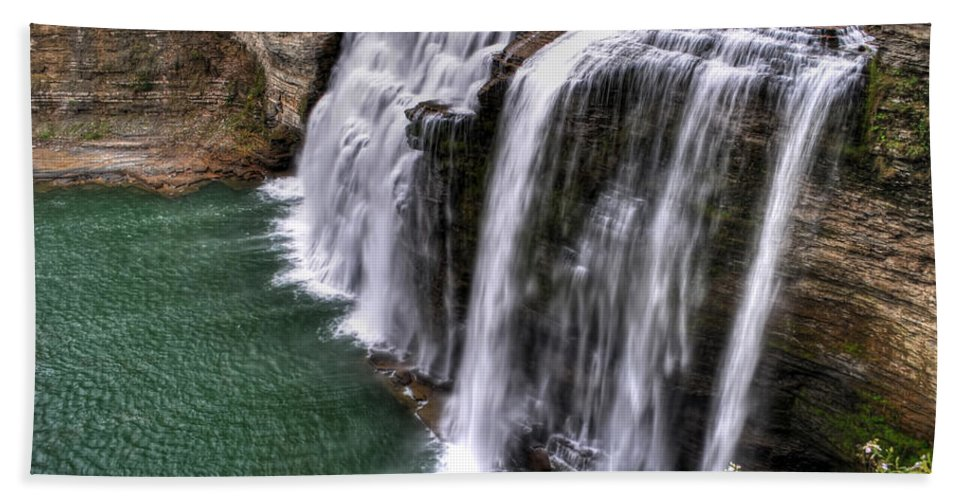 Hand Towel featuring the photograph 0037 Letchworth State Park Series by Michael Frank Jr