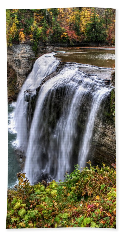 Hand Towel featuring the photograph 0039 Letchworth State Park Series by Michael Frank Jr