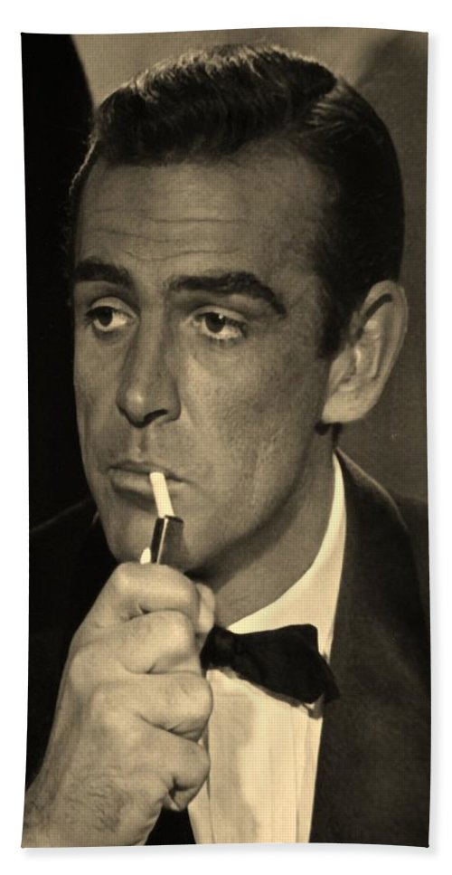 James Bond Hand Towel featuring the photograph 007 by Rob Hans