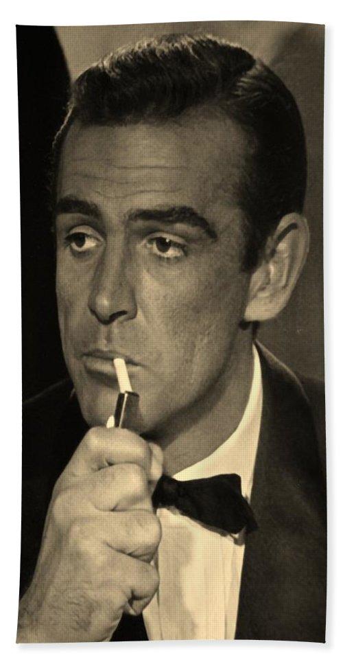 James Bond Bath Sheet featuring the photograph 007 by Rob Hans