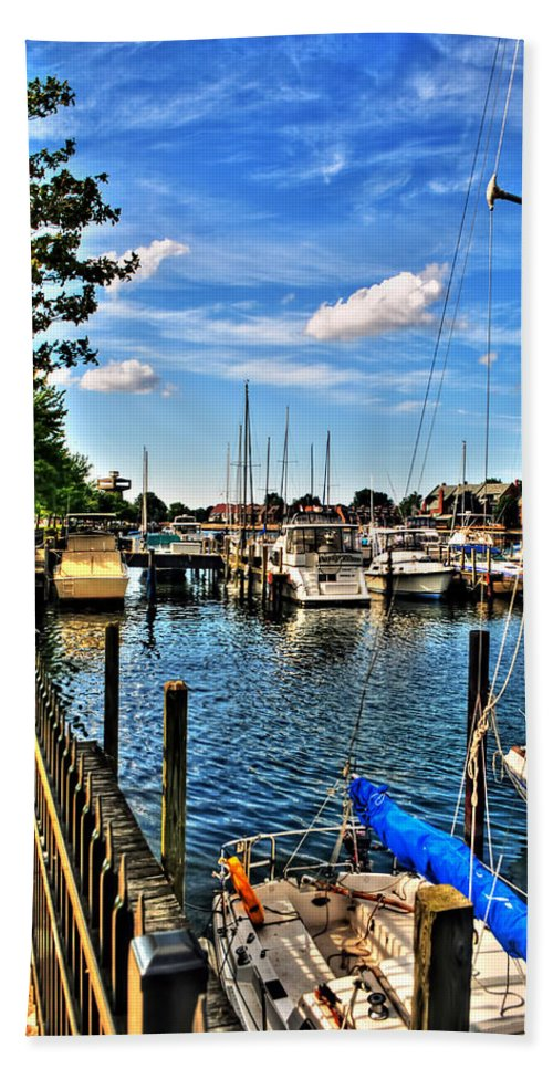 Bath Sheet featuring the photograph 008 On A Summers Day Erie Basin Marina Summer Series by Michael Frank Jr