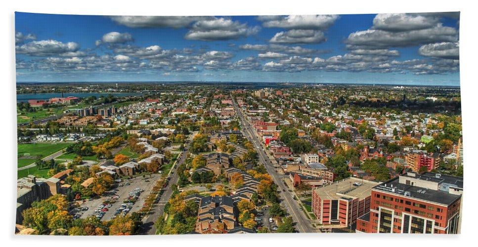 Hand Towel featuring the photograph 009 Autumn Days Of Buffalo Ny Birds Eye by Michael Frank Jr
