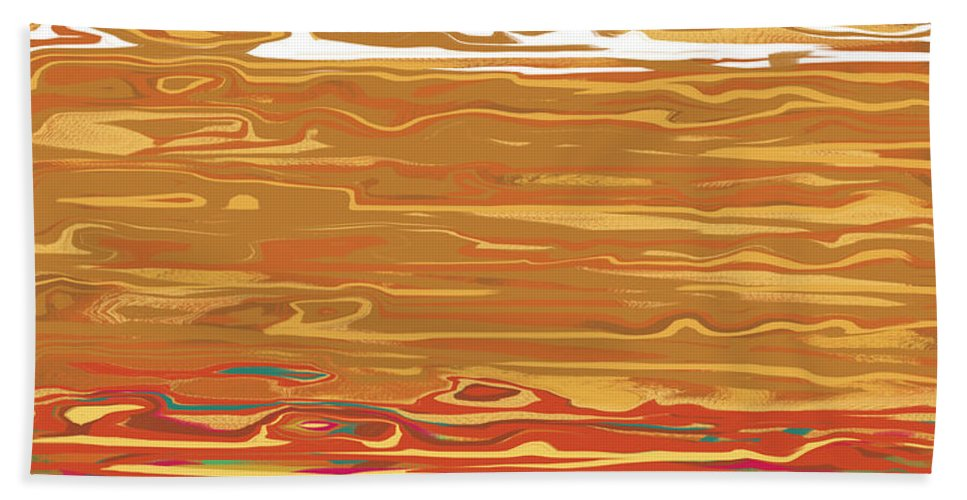 Digital Art Hand Towel featuring the digital art 0145 Abstract Landscape by Chowdary V Arikatla