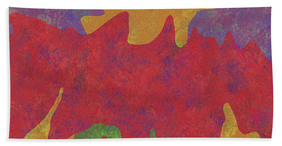 Digital Art Hand Towel featuring the digital art 0146 Abstract Thought by Chowdary V Arikatla
