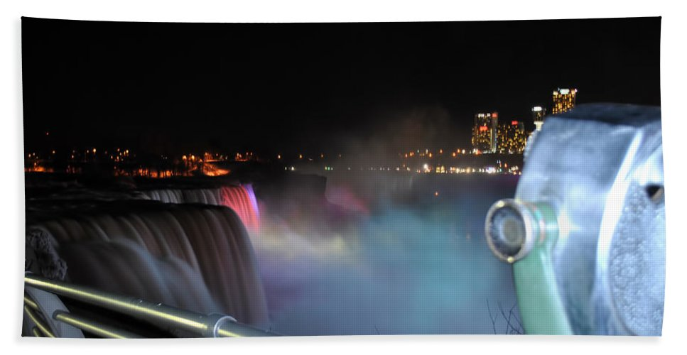 Bath Sheet featuring the photograph 04 Niagara Falls Usa Series by Michael Frank Jr