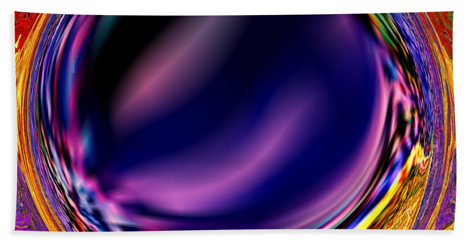 Abstract Bath Sheet featuring the digital art 0538 Abstract Thought by Chowdary V Arikatla
