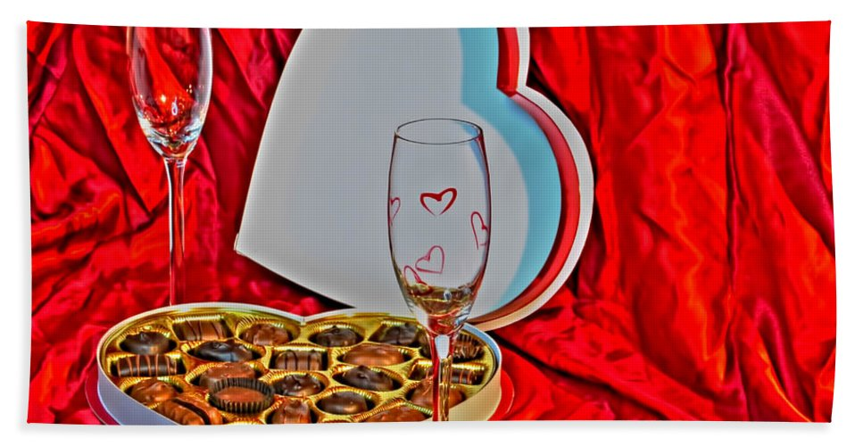 Bath Sheet featuring the photograph 06 Valentine Series by Michael Frank Jr