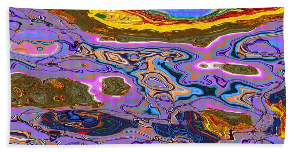 Abstract Bath Towel featuring the digital art 0620 Abstract Thought by Chowdary V Arikatla