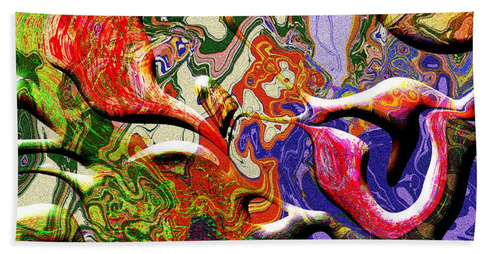 Abstract Bath Sheet featuring the digital art 0627 Abstract Thought by Chowdary V Arikatla