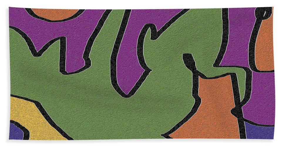 Abstract Bath Sheet featuring the digital art 0638 Abstract Thought by Chowdary V Arikatla