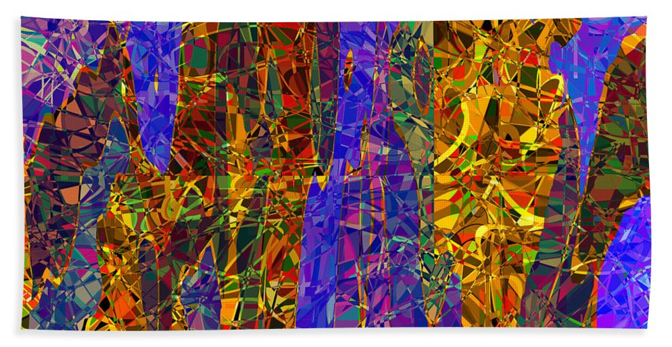Abstract Bath Sheet featuring the digital art 0666 Abstract Thought by Chowdary V Arikatla
