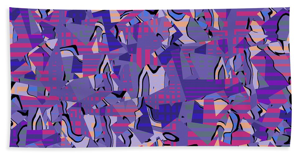Abstract Hand Towel featuring the digital art 0667 Abstract Thought by Chowdary V Arikatla