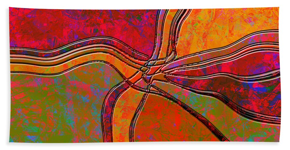 Abstract Hand Towel featuring the digital art 0683 Abstract Thought by Chowdary V Arikatla