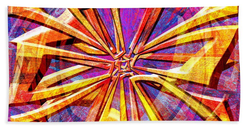 Abstract Hand Towel featuring the digital art 0692 Abstract Thought by Chowdary V Arikatla