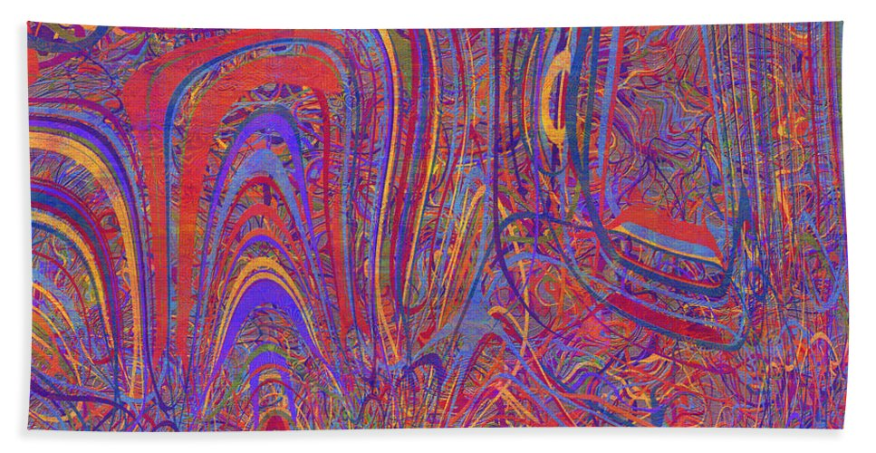 Abstract Hand Towel featuring the digital art 0708 Abstract Thought by Chowdary V Arikatla
