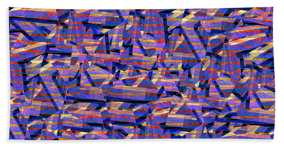 Abstract Hand Towel featuring the digital art 0724 Abstract Thought by Chowdary V Arikatla