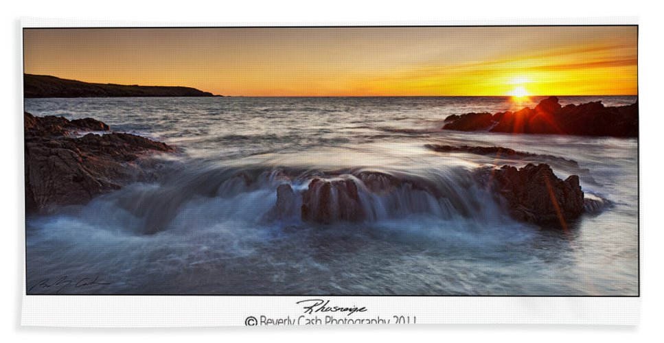 Seascape Bath Sheet featuring the photograph Rhosneigr by Beverly Cash