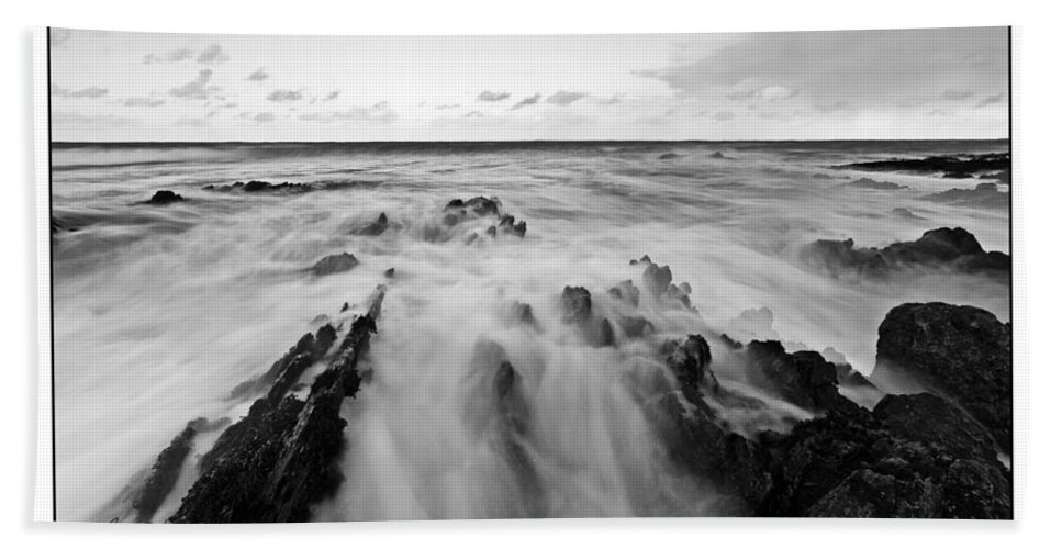 Seascape Bath Sheet featuring the photograph Welsh Coast by Beverly Cash